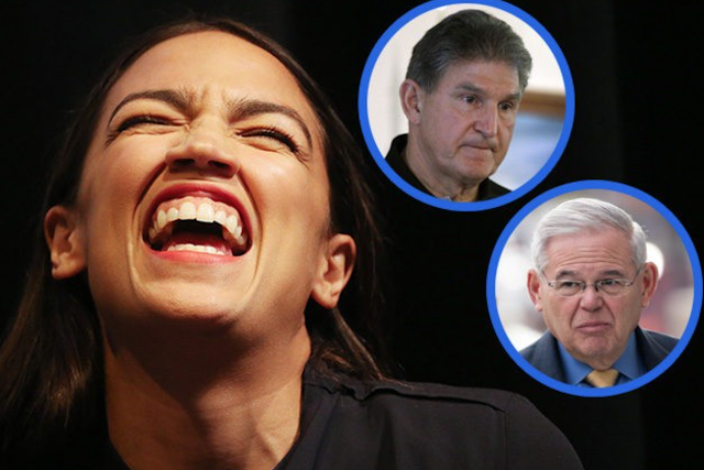 Alexandria Ocasio-Cortez Attacks Vulnerable Democrat Senators