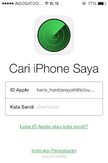 Mencari dan Menemukan Iphone Yang Hilang