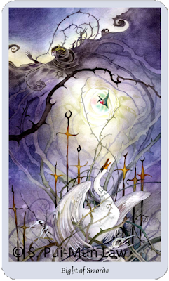 Shadowscapes Tarot, Eight of Swords  Stephanie Pui-Mun Law
