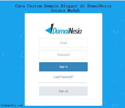 Cara Custom Domain Blogger di DomaiNesia otomatis