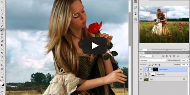 Фотоколлаж с девушкой в Фотошопе