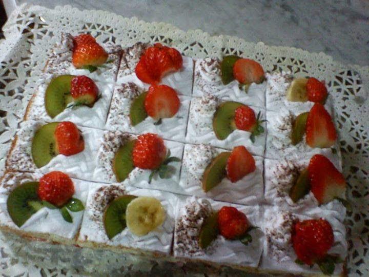 Recette du gâteau aux fruits