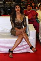 Pooja Hegde looks glamarous in deep neck sleevless short tight golden gown at Duvvada Jagannadham thank you meet function 165.JPG