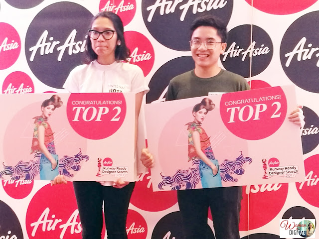 Jerome and Esme, Top 2 winners at AirAsia Runway Designers Search in Manila
