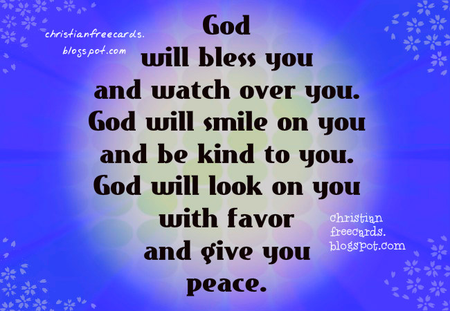 God Will Bless You Christian Card Free Christian Cards