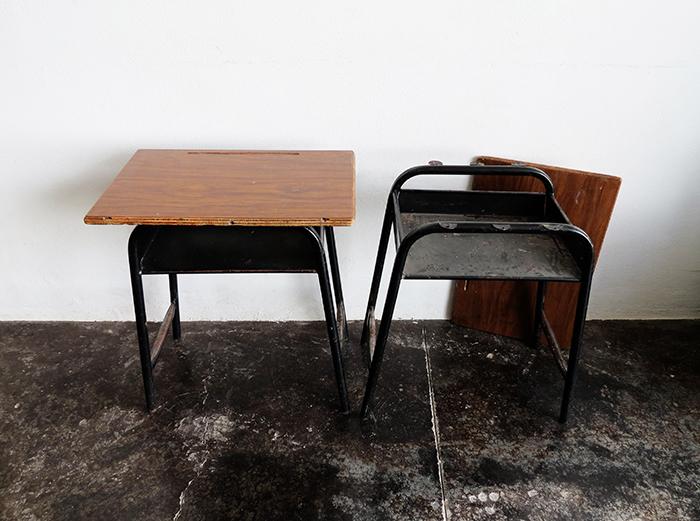 The school desk makeover