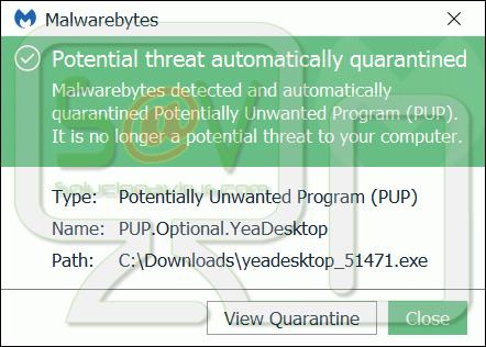 PUP.Optional.YeaDesktop