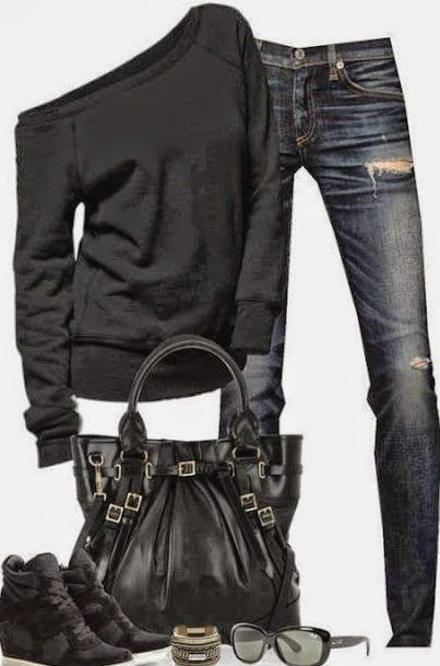 black-sweater-jeans-black-bag