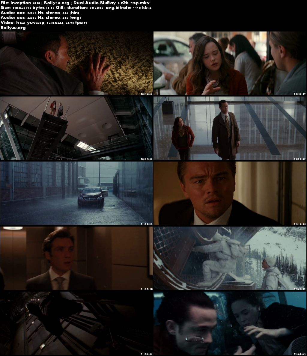 Inception 2010 BluRay 450MB Hindi Dubbed Dual Audio 480p Download