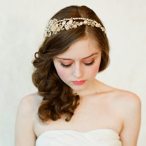 crystal beaded bridal headband