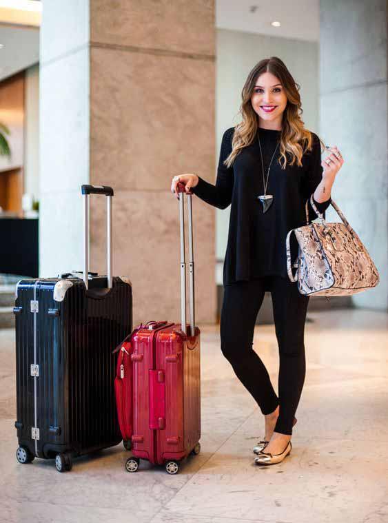 aerolook calça preta, blusa manga longa e sapatilha