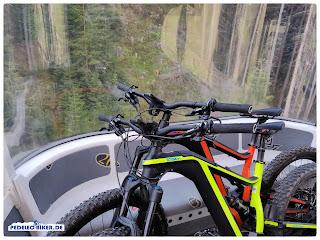 Bikes bis 25 Kg können in der Silvrettabahn transportiert werden.
