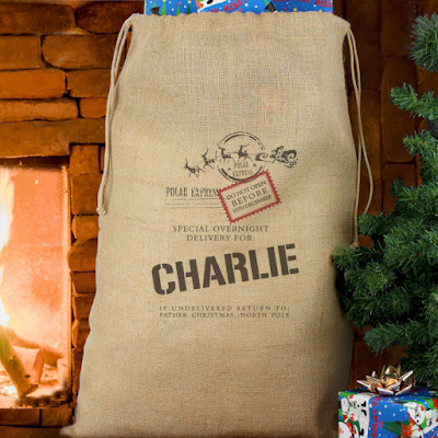 Personalised Santa Sacks hessian gift sack PhotoFairytales