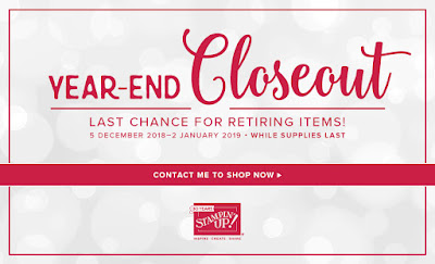Vickie Lou Designs: LAST CHANCE Stampin Up Year End Closeout