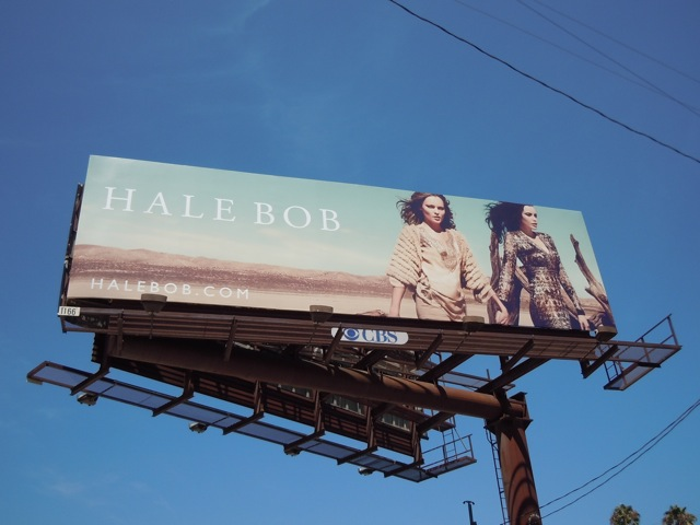 Hale Bob desert fashion billboard