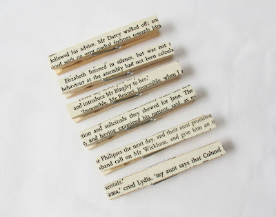 image pride and prejudice pegs clothespins jane austen mr darcy elizabeth bennet mr bingley jane mr wickham lydia handmade domum vindemia bridal wedding party