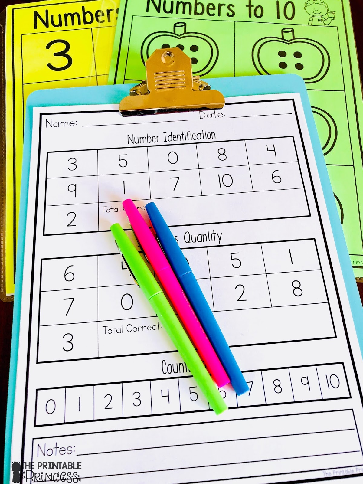 The Printable Princess: Numbers to 10 Activities for Little Learners