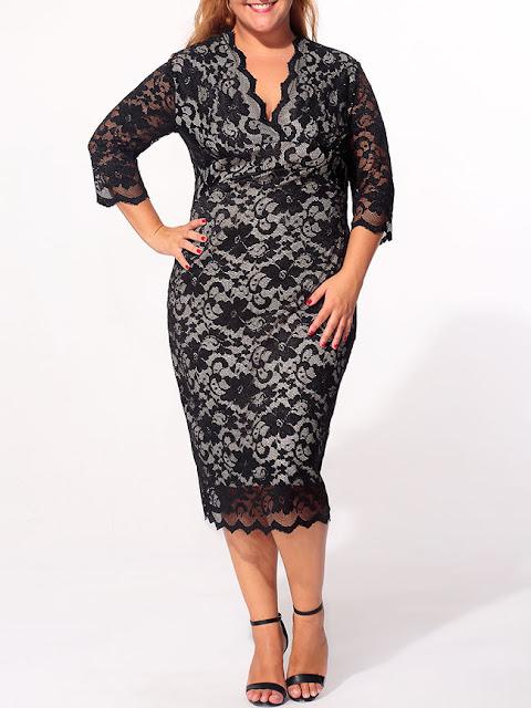http://www.fashionmia.com/Products/v-neck-lace-plain-scalloped-hem-plus-size-bodycon-dress-160947.html