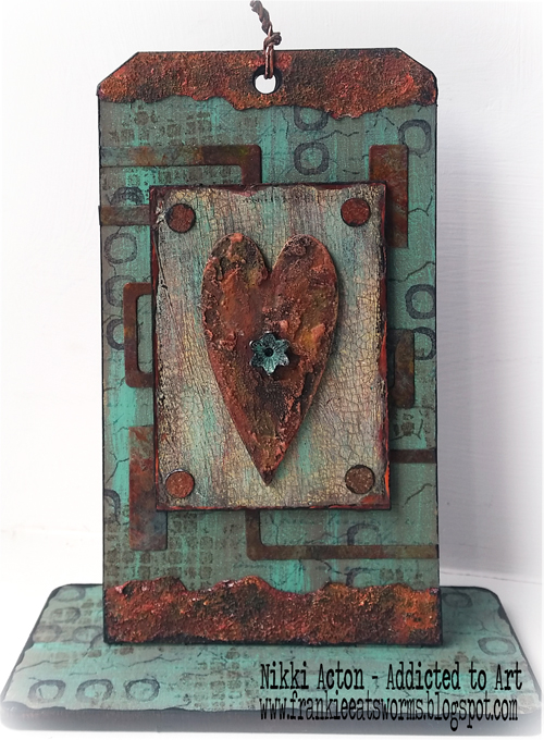 Addicted to Art - Seth Apter - PaperArtsy paints - rust and patina
