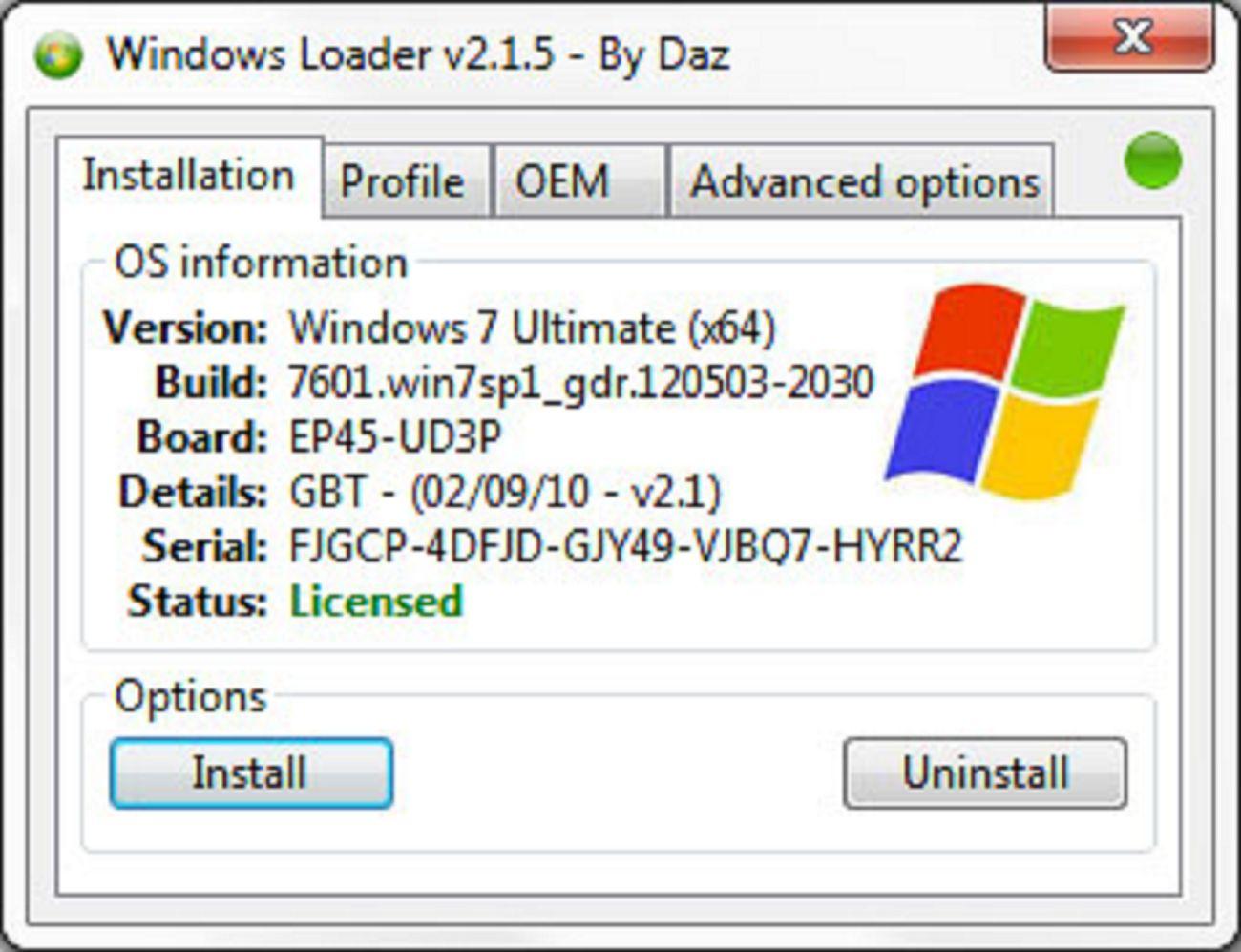 Windows 7 Loader v2 6 2 By Daz Free Download Latest 2018