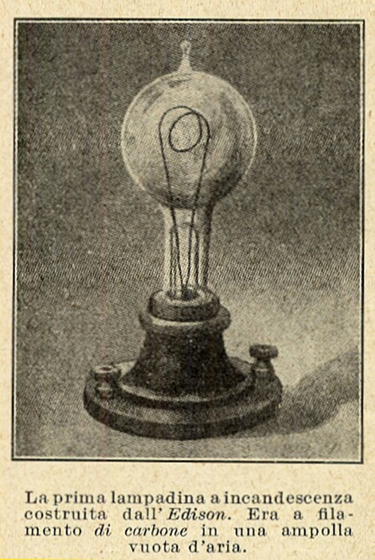 1878 edison e la lampada ad incandescenza for Lampada a lampadina