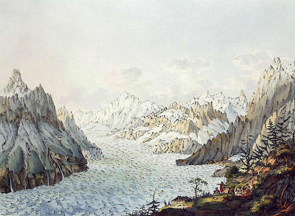 The Gross-clockner Et Le Glacier Pasterze Beautiful In Colour Art Engraving Press
