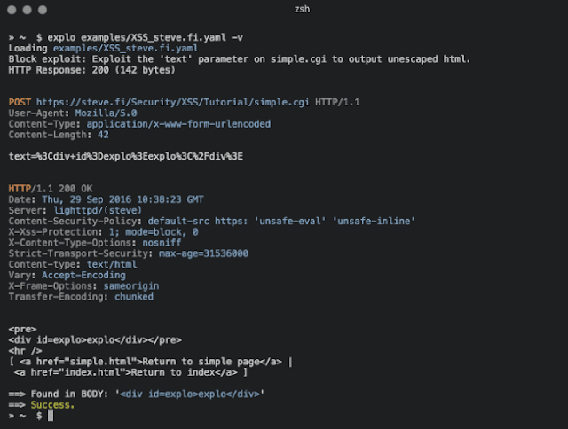 Explo: The Human and Machine Readable Web Vulnerability Testing Format