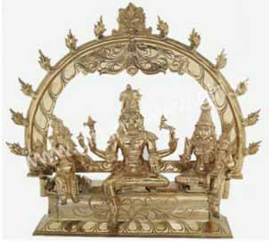 Shiva Family With Arch