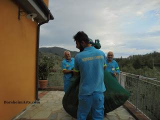 ambulance servicement; bean harvest; the beans of Sorana; fagioli di Sorana