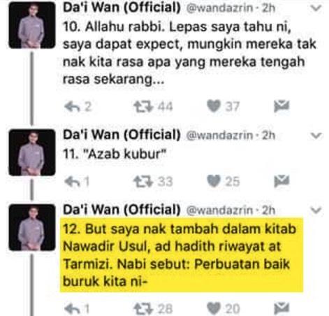 Jawapan Kepada Tweet Viral Da'i Wan