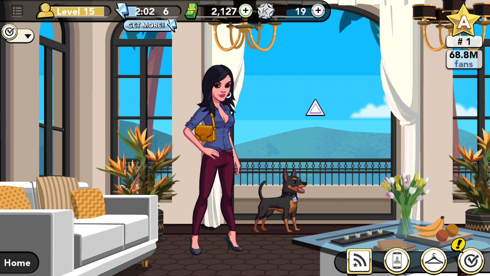 Kim Kardashian: Hollywood game - Miami beach house with Miniature Pinscher pet