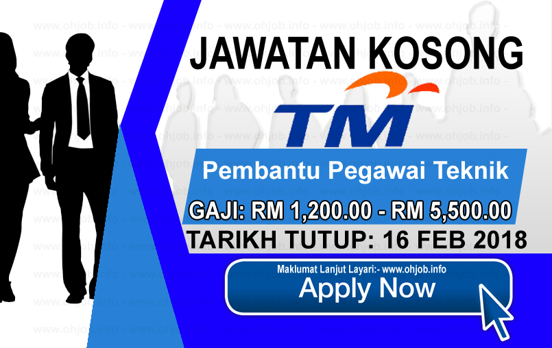 Jawatan Kerja Kosong Telekom Malaysia - TM logo www.ohjob.info februari 2018