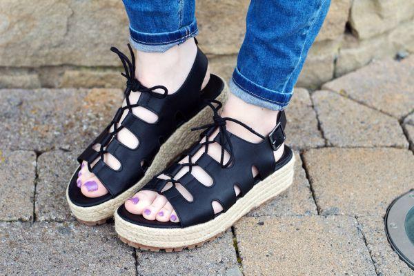 Primark lace up sandals