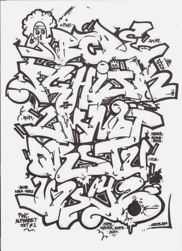 Graffitie: 3D Graffiti Aetters a-z