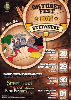 OktoberFest Stefanese 2017, dal 28 settembre all'1 ottobre 2017