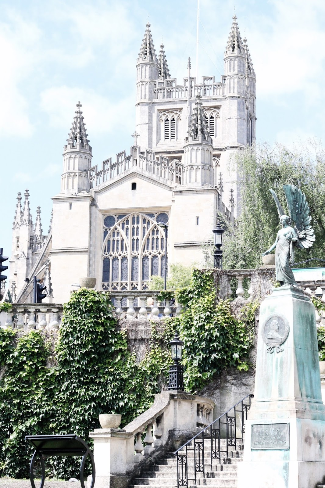 Views of Bath Abbey from the Parade Gardens