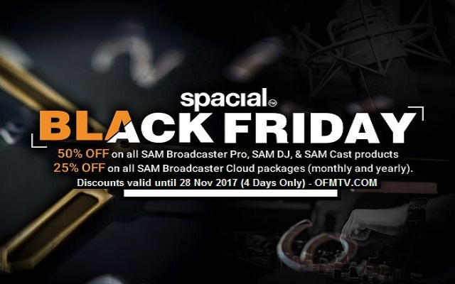 50% OFF SAM Broadcaster Pro, SAM Cast, SAM DJ & SAM Broadcaster - Make Extra Money Income this Black Friday