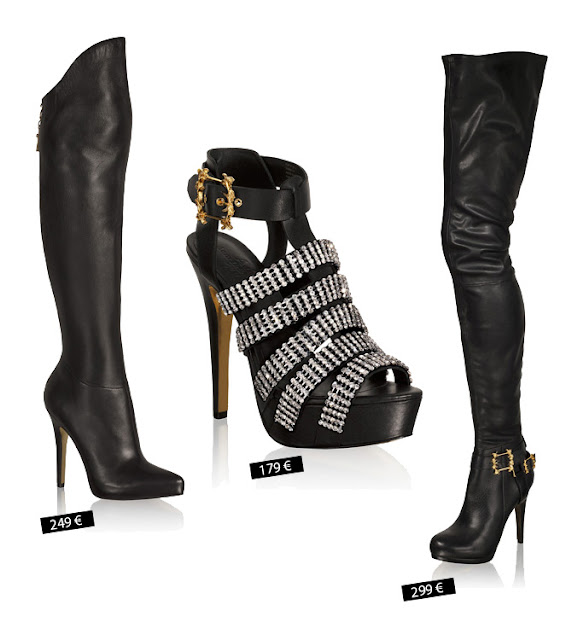 Anna dello Russo collection for H&M, overknee boots, high heels, prices