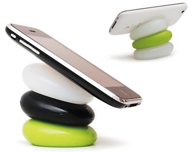 Invento de piedra ergonómica para los aparatos electronicos