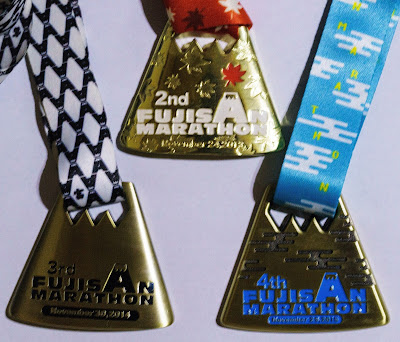 富士山マラソンの完走メダル