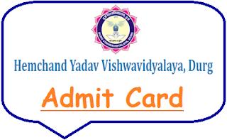 Durg University Admit Card 2021