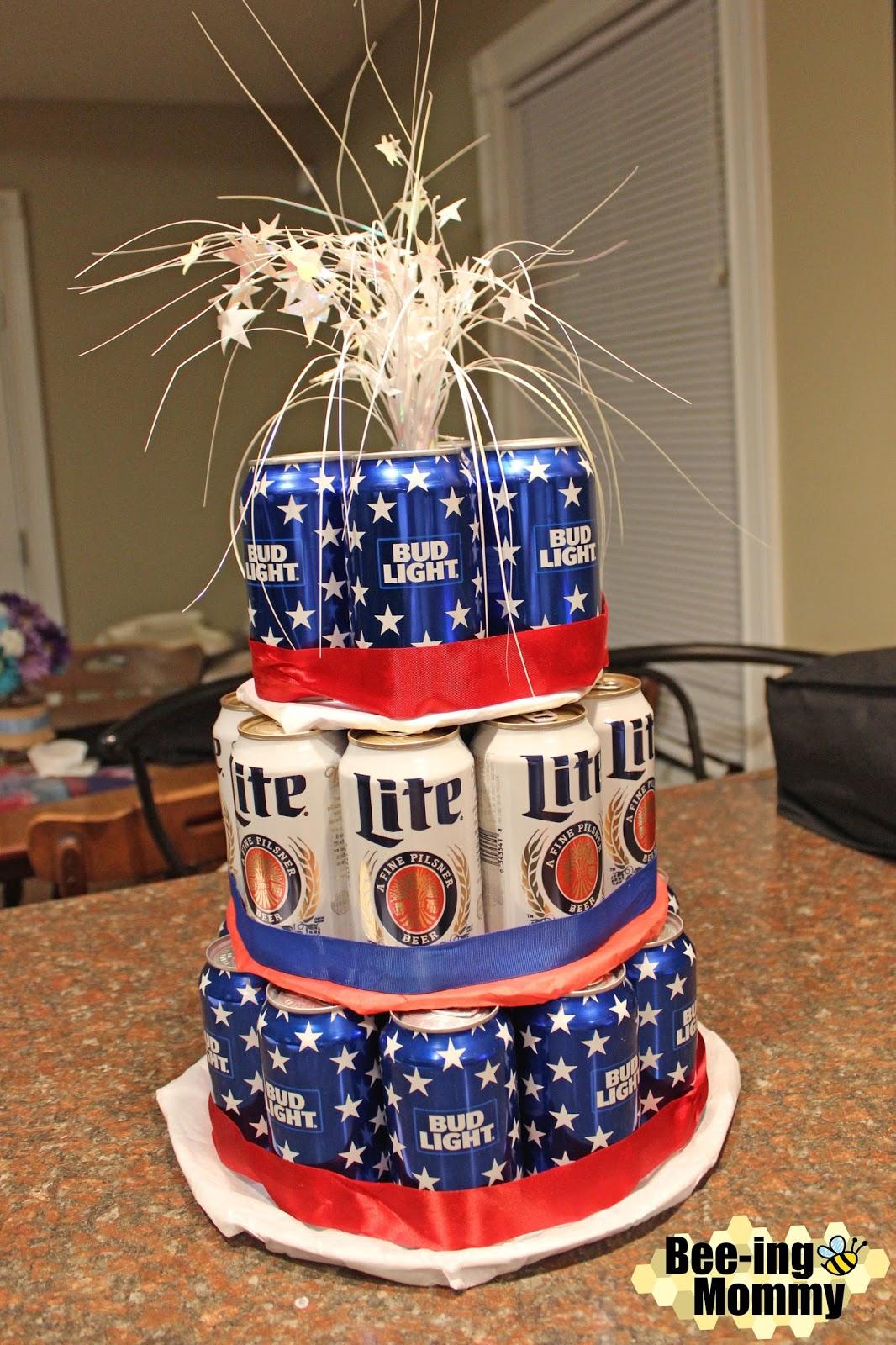 Enjoyable Beer Can Cake Tutorial Funny Birthday Cards Online Elaedamsfinfo