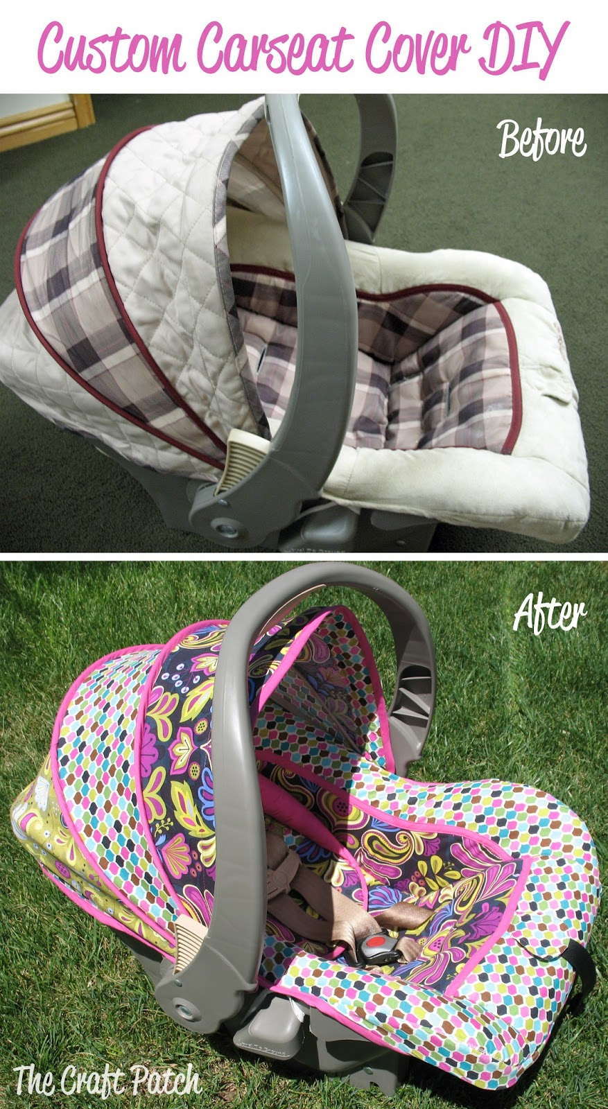 The Craft Patch: Custom Car Seat Cover DIY