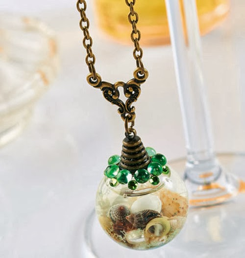 Glass globe jewellery