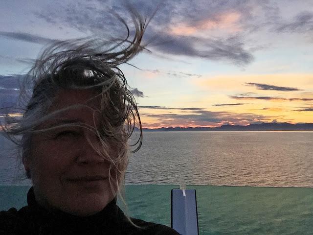 Selfie in the wind