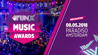 FunX Music Awards 2018 live op NPO FunX, FunX.nl en NPO 3 Extra