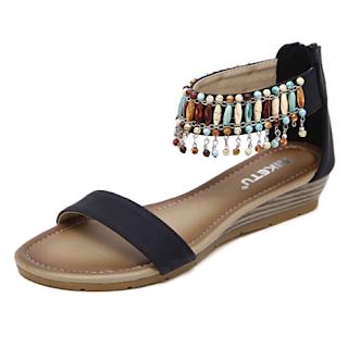 eb6b0c23784 Women s Gladiator Wedges Sandals High Heels Shoes Peep Toe Platform Chic  Pumps