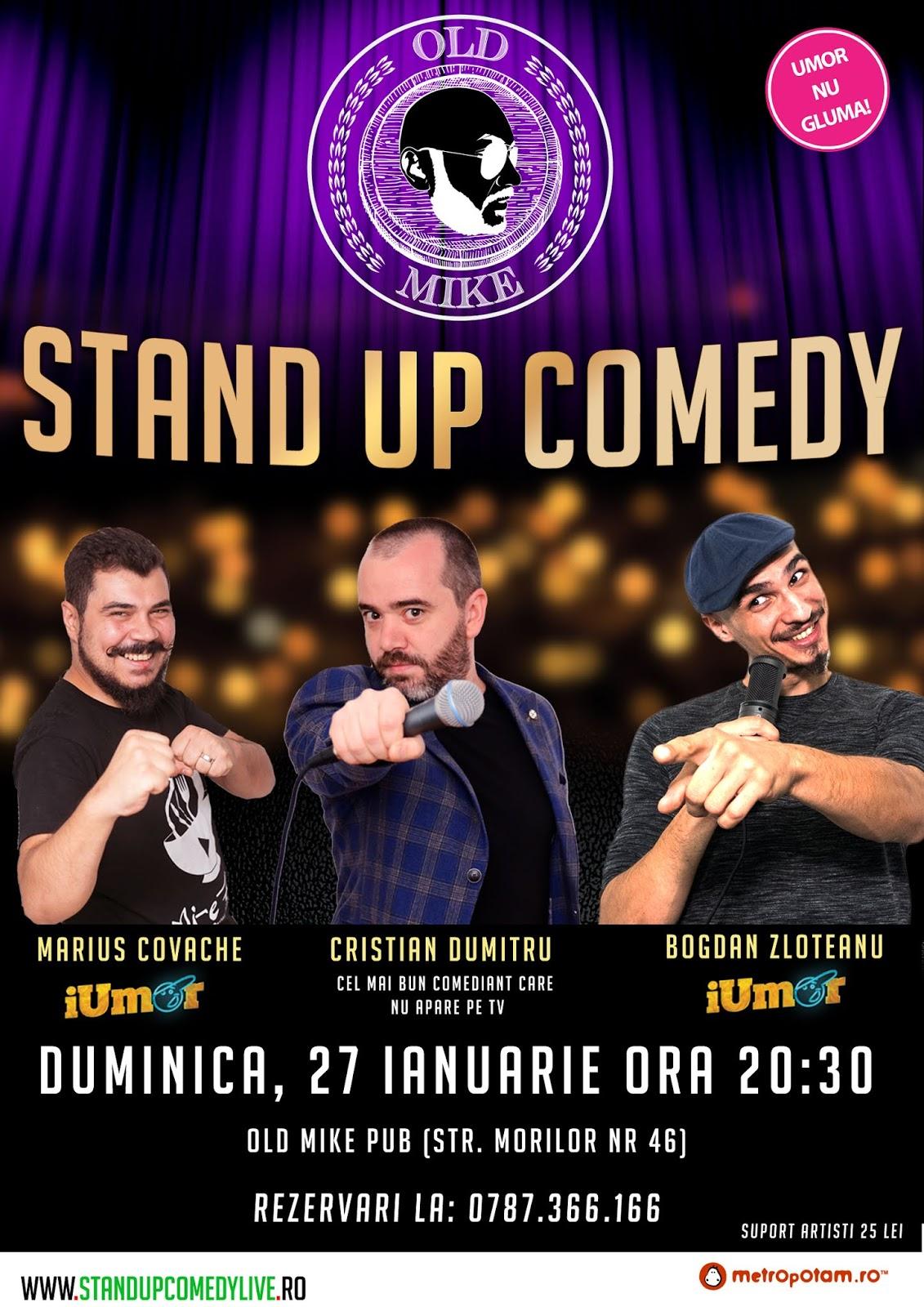 Stand-Up Comedy Bucuresti Duminica 27 ianuarie 2019