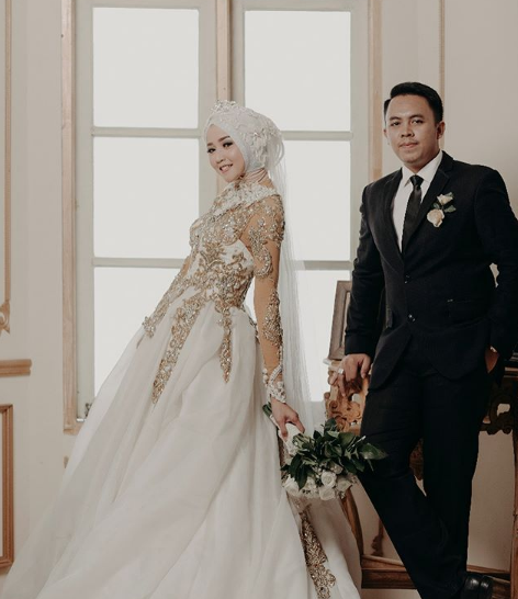 47+ Model Baju Pengantin Muslim 2019 Desain Elegan 7608cce107