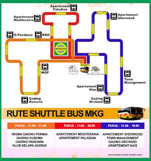 Jadwal Keberangkatan Shuttle Bus Summarecon area Kelapa Gading